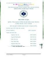 Đề tài: Quy trình sản xuất thạch dừa ĐH CNTP TP. HCM