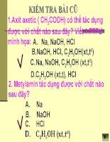 Bài giảng điện tử môn hóa học: aminoaxit cơ bản docx