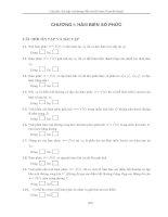 Câu hỏi, bài tập và hướng dẫn trả lời môn Toán kỹ thuật