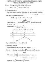 Phương pháp chứng minh một số bất đẳng thức trong tích phân xác định pptx