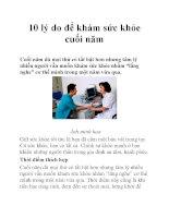 10 lý do để khám sức khỏe cuối năm pptx