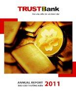 báo cáo thường niên 2011 trustbank nơi của niềm tin và thành đạt