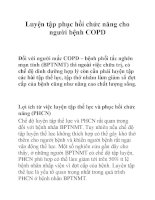Luyện tập phục hồi chức năng cho người bệnh COPD pot