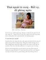 Thai ngoài tử cung - Biết sợ, để phòng ngừa pptx