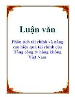 Luận văn: Phân tích tài chính và nâng cao hiệu quả tài chính của Tổng công ty hàng không Việt Nam docx