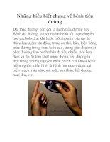 Những hiểu biết chung về bệnh tiểu đường pdf
