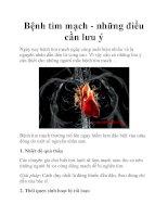 Bệnh tim mạch - những điều cần lưu ý potx