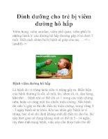 Dinh dưỡng cho trẻ bị viêm đường hô hấp doc