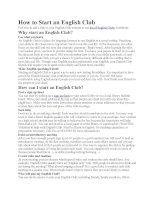 How to Start an English Club pdf