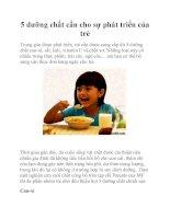 5 dưỡng chất cần cho sự phát triển của trẻ pot