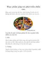 Thực phẩm giúp trẻ phát triển chiều cao. ppt