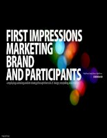 First Impressions: Marketing Brand and participants