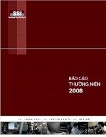 báo cáo thường niên 2008 ssi  Công ty cổ phần Chứng khoán Sài Gòn