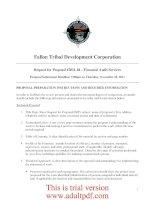 Fallon Tribal Development Corporation Request for Proposal #2011-04 – Financial Audit Services Proposal Submission Deadline: 5:00pm on Thursday, November 10, 2011 ppt