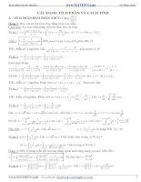 400 bài toán tích phân hàm lượng giác có lời giải