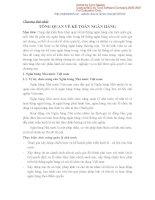 Chương 1: tổng quan về kế toán ngân hàng docx