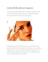 6 bước để đôi mắt tươi sáng hơn potx