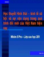 Học thuyết Hình thái – kinh tế xã hội và sự vận dụng trong quá trình đổi mới của Việt Nam hiện nay
