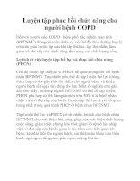 Luyện tập phục hồi chức năng cho người bệnh COPD docx