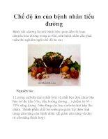 Chế độ ăn của bệnh nhân tiểu đường doc