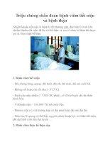 Triệu chứng chẩn đoán bệnh viêm tiết niệu và bệnh thận pdf