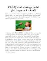 Chế độ dinh dưỡng cho bé giai đoạn từ 1 - 3 tuổi pot