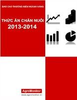 báo cáo thường niên thức ăn chăn nuôi năm 2013 và triển  vọng 2014