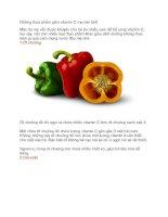 những thực phẩm giàu vitamin c mẹ nên biết