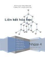 Tiểu luận: Liên kết hóa học pptx