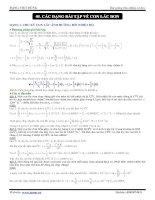Các dạng bài tập về con lắc đơn ppt