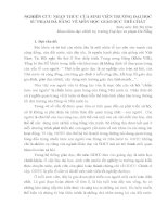 NGHIÊN cứu NHẬN THỨC của SINH VIÊN TRƯỜNG đại học  sư PHẠM đà NẴNG về môn học GIÁO dục THỂ CHẤT