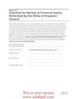 Checklist for Review of Financial Audits Performed by the Office of Inspector General_part1 pptx