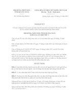 Quyết định số 35/2011/NQ-HĐND pot