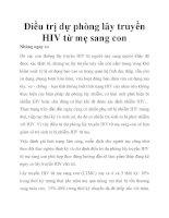 Điều trị dự phòng lây truyền HIV từ mẹ sang con pptx