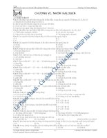 Tuyển chọn các câu hỏi trắc nghiệm hóa-Halogen ppt