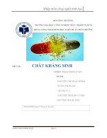 báo cáo Nhập môn công nghệ sinh học