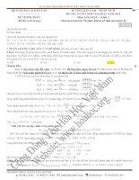 2011 - Lời giải chi tiết & phân tích đề thi Hóa - Khối A - năm 2011 (1) docx