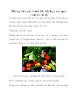 Những điều cần tránh khi kết hợp rau quả trong ăn uống pot