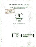 báo cáo thường niên 2011 công ty cổ phần cao su tây ninh mã chứng khoán trc