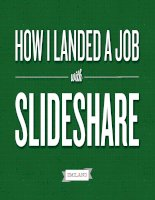 How to get a Job with Slideshare: Quick guide