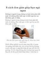 8 cách đơn giản giúp bạn ngủ ngon pdf