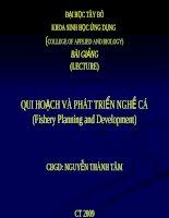 Bài giảng: Quy hoạch và phát triển nghề cá doc