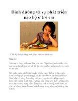 Dinh dưỡng và sự phát triển não bộ ở trẻ em doc