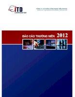 báo cáo thường niên năm 2012 công ty cổ phần công nghệ tiên phong innovative technology development corporation