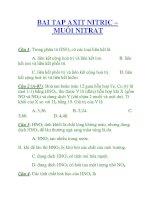 BAI TAP AXIT NITRIC – MUỐI NITRAT pdf