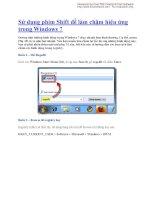 Sử dụng phím Shift để làm chậm hiệu ứng trong Windows 7 pdf