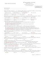Đề thi Olympic Vật lý trường THPT Quỳnh Thọ