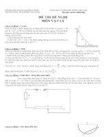 Đề thi môn vật lý lớp 11