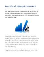 Đạo đức và hiệu quả kinh doanh potx