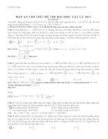 Giải chi tiết từng câu DH 2011 chỉnh sửa doc